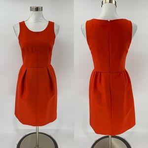 J.Crew Sleeveless Sheath Dress Red Wool Size 0